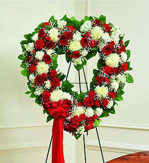Randolph Florist | Red & White Heart